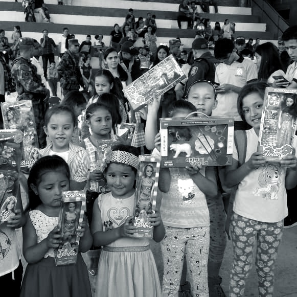 Christmas Donations in Barichara, Colombia